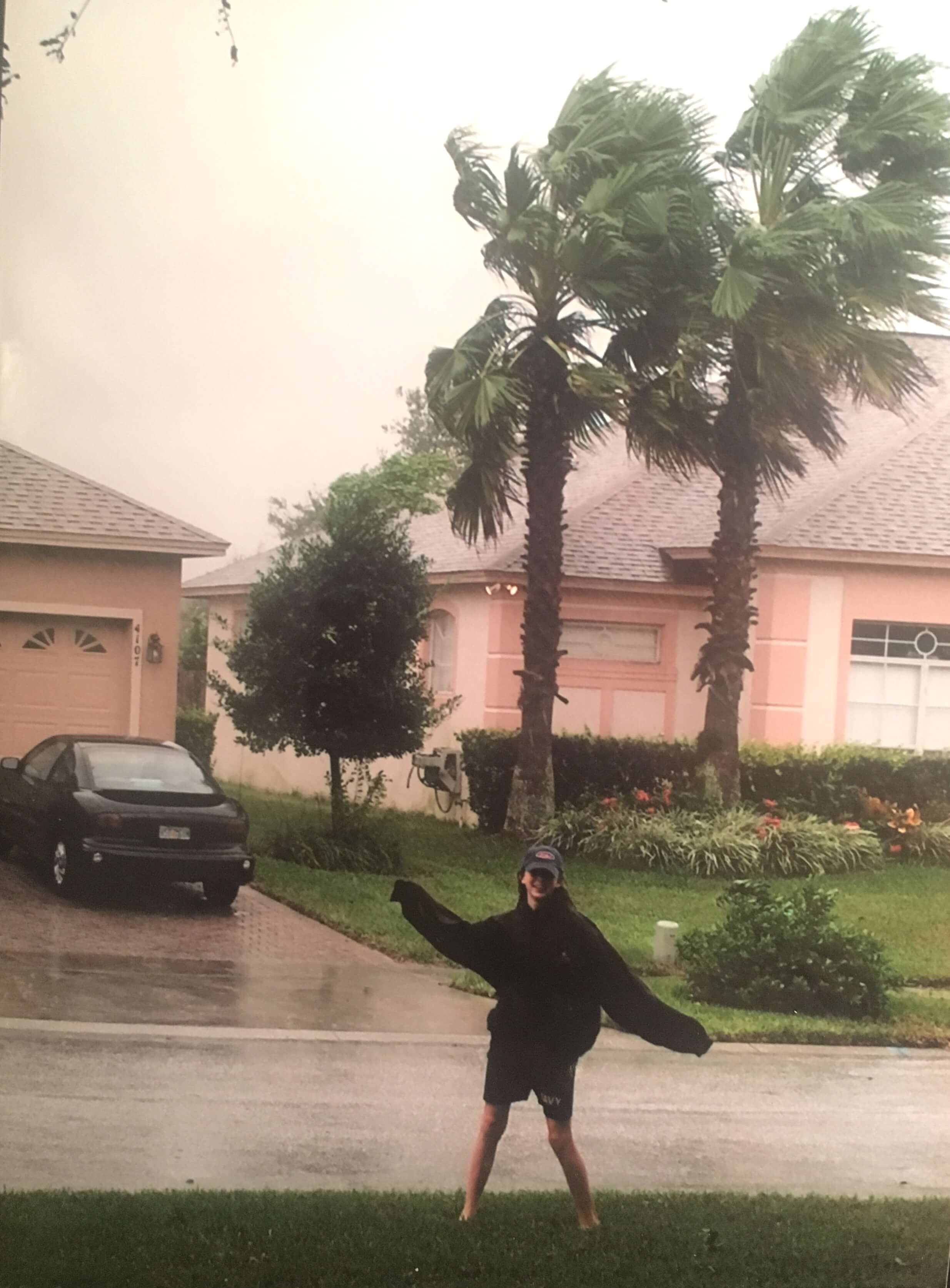 Baby Alex during Hurricane Francis