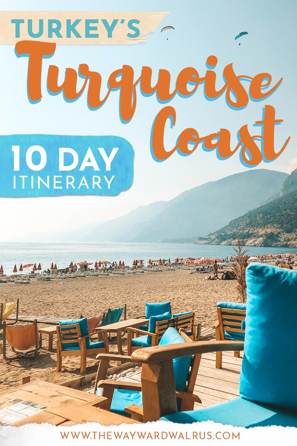 Everything you need to know about visiting Turkey's beautiful Turquoise Coast. Travel guide includes Turquoise Coast travel route, top things to do, 10 day sample itinerary, bus travel tips for Turkey and how to reach each destination via public transportation. #TurquoiseCoast #TurkishRiviera #TheWaywardWalrus